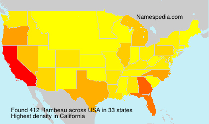 Surname Rambeau in USA