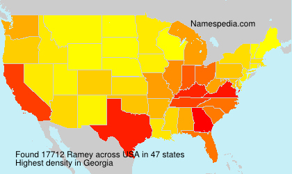 Surname Ramey in USA