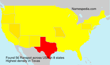 Surname Ranspot in USA