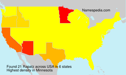 Surname Rapatz in USA