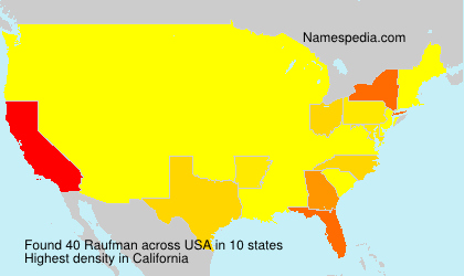 Surname Raufman in USA