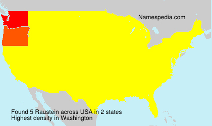 Surname Raustein in USA