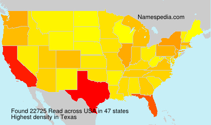 Surname Read in USA