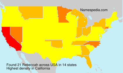 Surname Rebeccah in USA