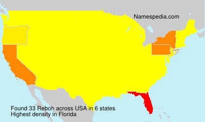 Surname Reboh in USA