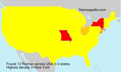 Surname Rechan in USA
