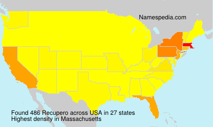 Surname Recupero in USA