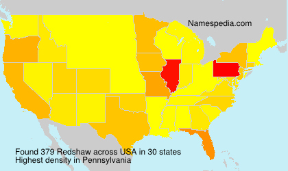 Surname Redshaw in USA