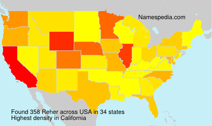Surname Reher in USA