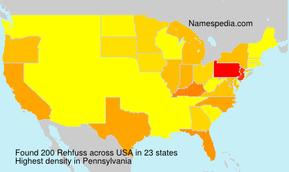 Surname Rehfuss in USA