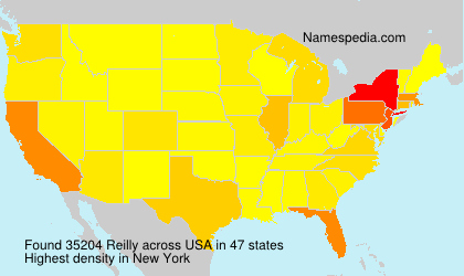 Surname Reilly in USA