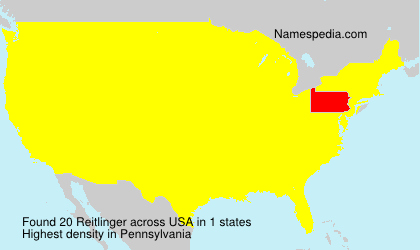 Surname Reitlinger in USA