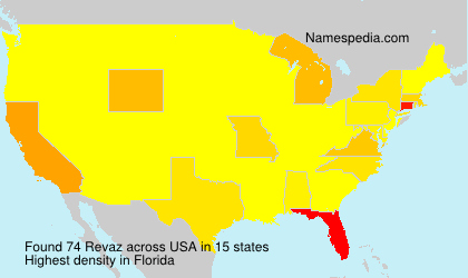Surname Revaz in USA