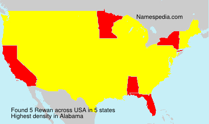 Surname Rewan in USA