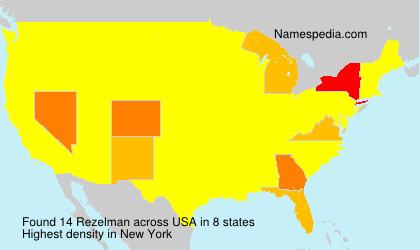 Surname Rezelman in USA