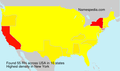 Surname Rhi in USA