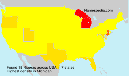 Surname Riberas in USA