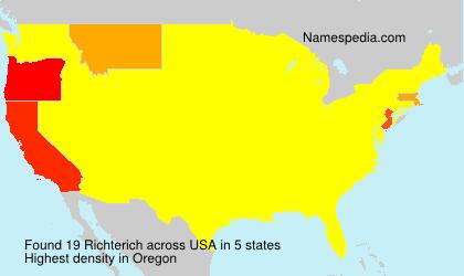 Familiennamen Richterich - USA