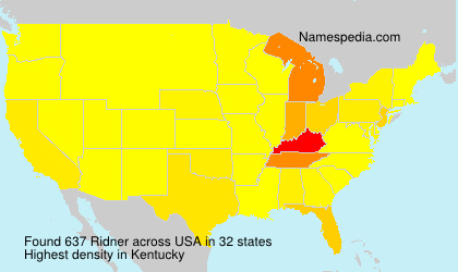 Surname Ridner in USA