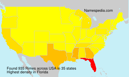 Surname Rimes in USA