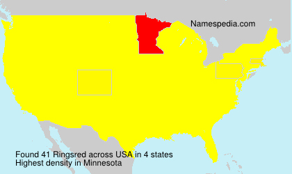 Surname Ringsred in USA