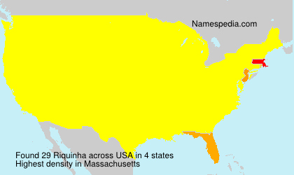 Surname Riquinha in USA