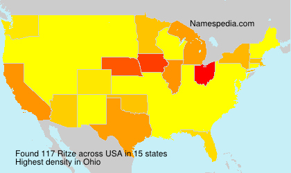 Surname Ritze in USA