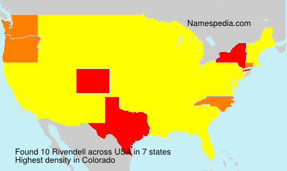 Surname Rivendell in USA