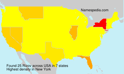 Surname Rizov in USA