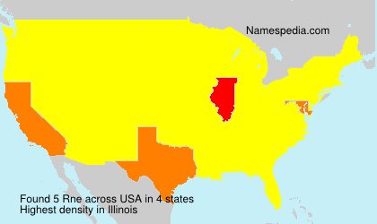 Surname Rne in USA