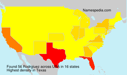 Surname Rodrgiuez in USA