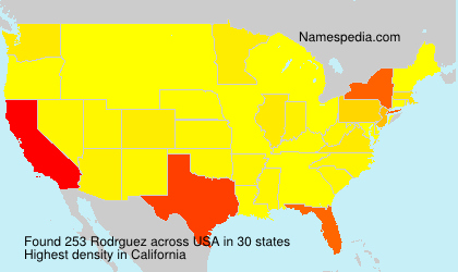 Surname Rodrguez in USA