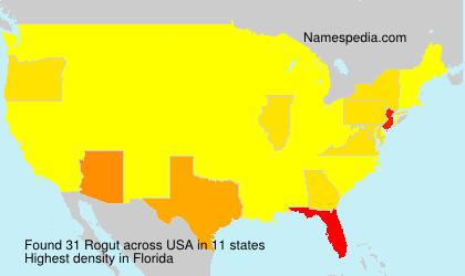 Familiennamen Rogut - USA