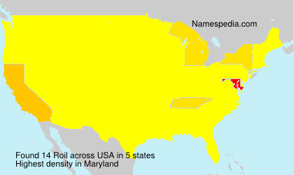 Surname Roil in USA