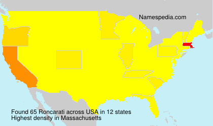 Surname Roncarati in USA