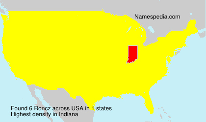 Surname Roncz in USA