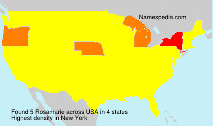 Surname Rosamarie in USA