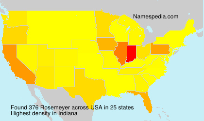 Surname Rosemeyer in USA