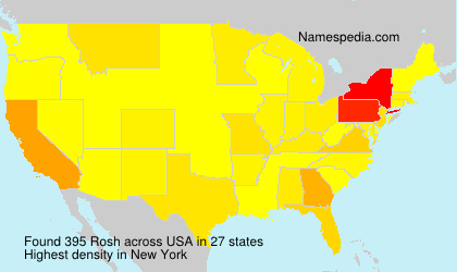 Surname Rosh in USA
