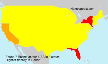 Familiennamen Rosnel - USA