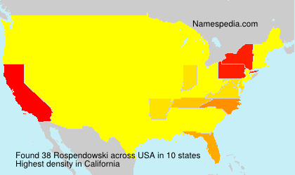 Surname Rospendowski in USA