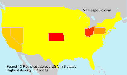 Surname Rothbrust in USA