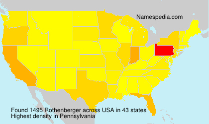 Surname Rothenberger in USA
