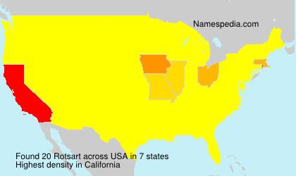 Surname Rotsart in USA
