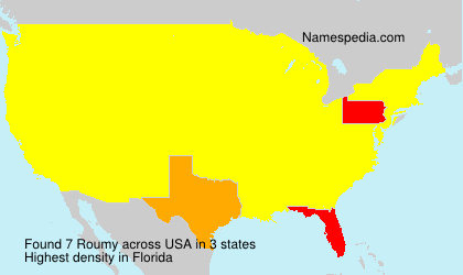 Surname Roumy in USA