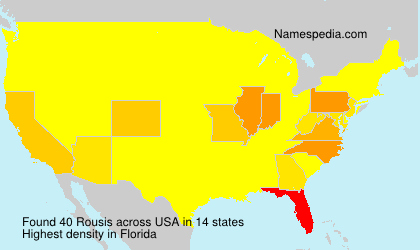 Surname Rousis in USA