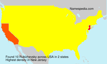 Familiennamen Rubizhevsky - USA