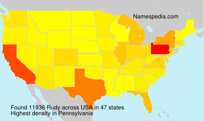 Surname Rudy in USA