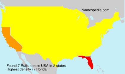 Familiennamen Ruijs - USA