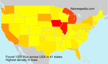 Surname Rus in USA